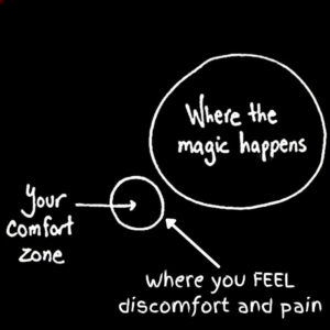leaning into discomfort